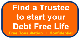 Find a Trustee to start your debt free life