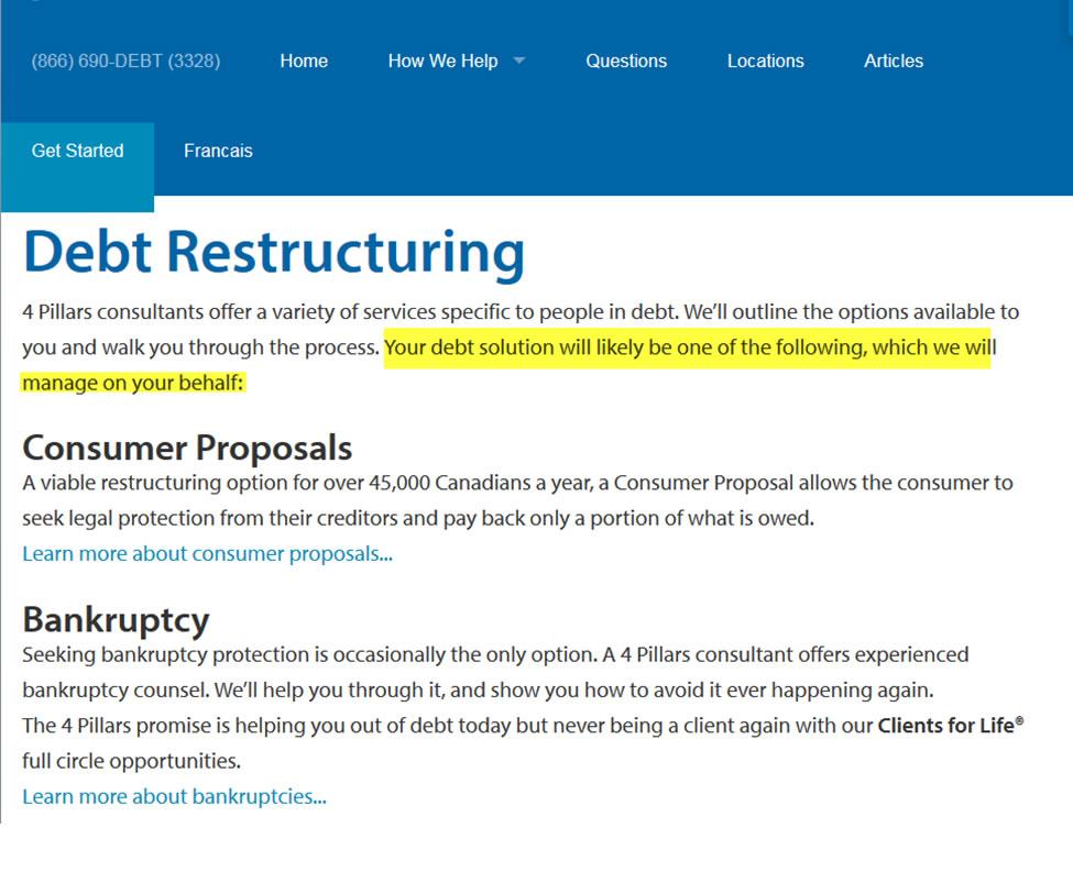 debt consultants
