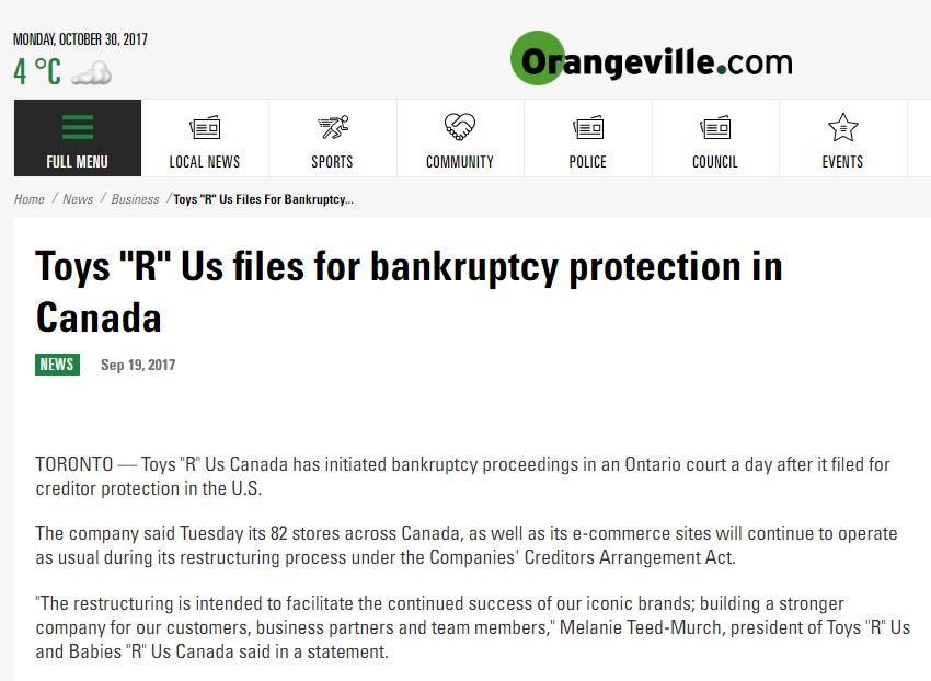Bankruptcy Orangeville, Ontario - Consumer Proposals & Declaring Bankruptcy in Orangeville, ON